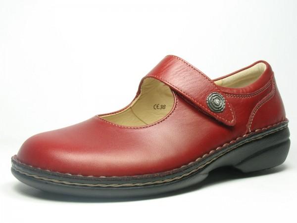 Schuhe Bequem Kramer FinnComfort Laval rot